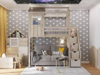 ЖК level Кутузовский Детская комната в стиле модерн от Зоя Ахманаева Модерн Дерево Эффект древесины