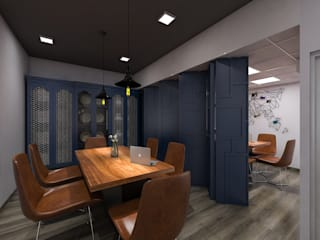 Office at Okhla: minimalist  by Grey-Woods,Minimalist