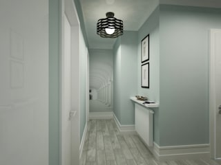 Anastasia Reicher Interior Design & Decoration in Wien Modern corridor, hallway & stairs Turquoise