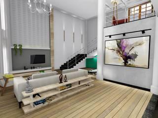 客廳 by Igor Cunha Arquitetura , 現代風
