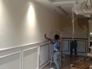 Full Wall Wainscoting In KL by WoodMalaysia Modern