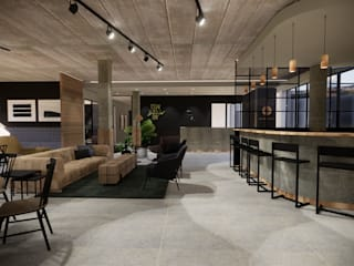 Co-work office space by Acre studio Modern