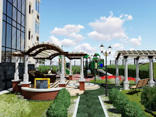 Сад на набережной реки Ишим: Азиатские сады в . Автор – LEVYCH COMPANY,