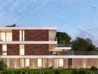CASA CS1- Moradia em Cascais - Projeto de Arquitetura: Moradias  por Traçado Regulador. Lda,Moderno