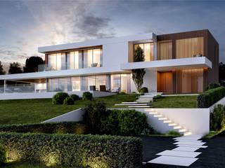 CASA PRG1 - Moradia em Loures- Projeto de Arquitetura: Moradias  por Traçado Regulador. Lda,Moderno