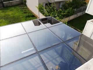 Yapısan Cephe Sistemleri Giardino d'inverno moderno Alluminio / Zinco Grigio