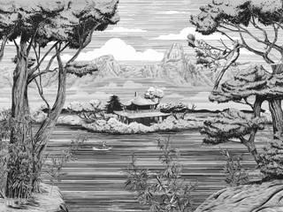 Tecnografica Aziatische muren & vloeren Wit