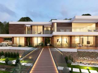 CASA LS1 - Moradia em Cascais - Projeto de Arquitetura: Moradias  por Traçado Regulador. Lda,Moderno
