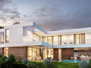 CASA GB1 - Moradia em Cascais - Projeto de Arquitetura: Moradias  por Traçado Regulador. Lda,Moderno