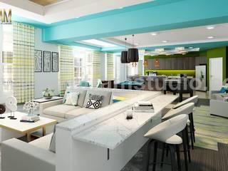 Salas / recibidores de estilo  por Yantram Architectural Design Studio