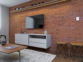 Honório 740 - arquitetura residencial em Porto Alegre Salas de estar modernas por Adriana Coradini Moderno