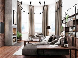 Salas / recibidores de estilo  por Goodinterior Наталья Жаляускене , Industrial
