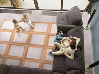 Archimede Bozzo Pavimenti in legno 牆壁與地板牆壁與地板罩 木頭 Beige