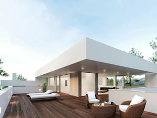 Terrace by Otto Medem Arquitecto vanguardista en Madrid