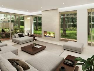 Living room by Otto Medem Arquitecto vanguardista en Madrid