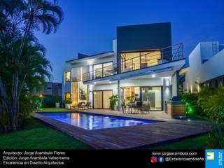Excelencia en Diseño Casas estilo moderno: ideas, arquitectura e imágenes Blanco
