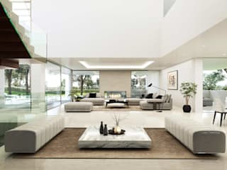 Living room by Otto Medem Arquitecto vanguardista en Madrid