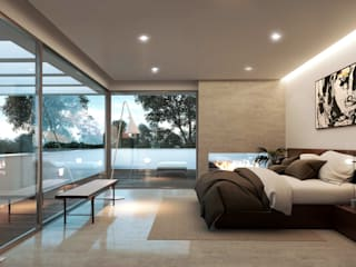 Bedroom by Otto Medem Arquitecto vanguardista en Madrid