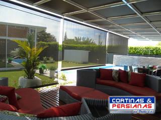 TOLDOS VERTICALES EN SCREEN PARA EXTERIOR de CORTINAS Y PERSIANAS DEL VALLE Moderno