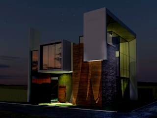 Fachada principal: Casas de campo de estilo  por Arq. Bruno Agüero,