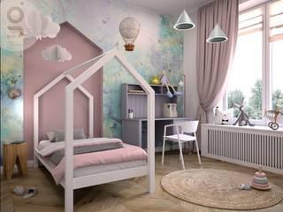 Mieszkanie w Krakowie: styl , w kategorii Pokój dla dziwczynki zaprojektowany przez GOLT Studio,