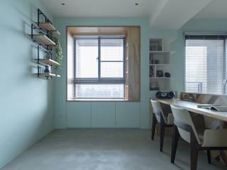 Dr. Yang案   臥榻 有隅空間規劃所 Study/office Plywood Green