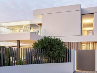 CASA C&J - Moradia em Cascais - Projeto de Arquitetura: Moradias  por Traçado Regulador. Lda,Moderno