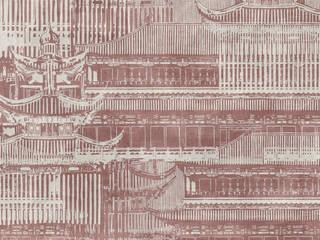 Tecnografica Paredes y pisos modernos Rojo