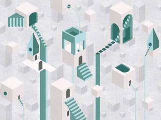 MAME 32 Pareti & Pavimenti in stile moderno di Tecnografica Moderno