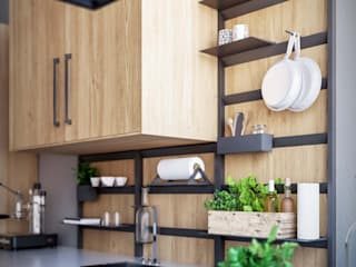 Damiano Latini srl KitchenStorage Aluminium/Seng Black