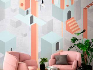 Tecnografica Paredes y pisos modernos Multicolor
