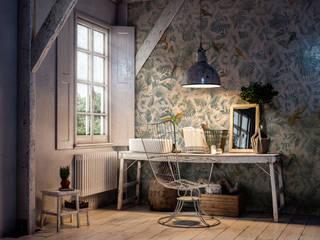 Tecnografica Paredes y pisos modernos Beige