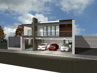 grupo ME Arquitectos Single family home Bricks Beige