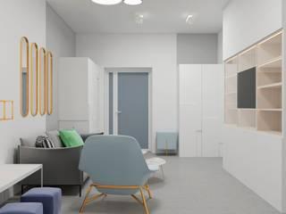Дизайн интерьера холла стоматологический клиники, г. Киев Рабочий кабинет в стиле минимализм от Constantin Malinowski Interior Design and Decoration Минимализм