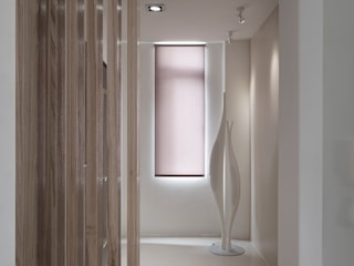 Country style corridor, hallway& stairs by 形構設計 Morpho-Design Country