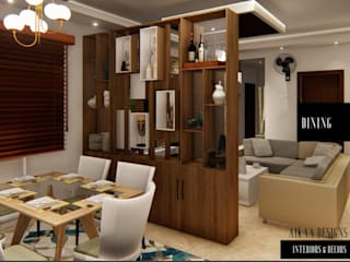 LUXURY 3 BHK APARTMENT INTERIORS AT CHENNAI Modern dining room by Aikaa Designs Modern
