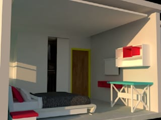2BHK Home Interior in Wakad by Prointero Interior:  Small bedroom by Prointero Interior,