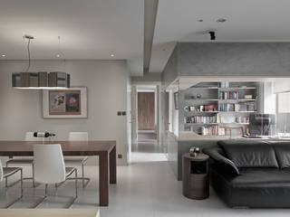 Modern Corridor, Hallway and Staircase by 形構設計 Morpho-Design Modern