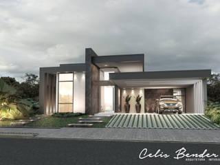 Casa Contemporânea por Celis Bender Arquitetura e Interiores Moderno