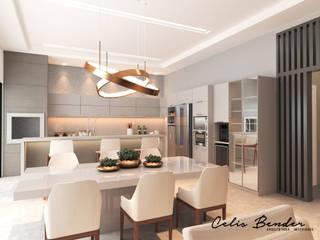 Cozinha Moderna com cores claras por Celis Bender Arquitetura e Interiores Minimalista
