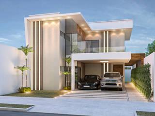 A iluminação a favor do traçado arquitetônico por Celis Bender Arquitetura e Interiores Moderno