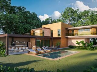 Maisons de style  par Carlos Eduardo de Lacerda Arquitetura e Planejamento , Moderne