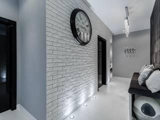 Lux Interiors - projektowanie i aranżacja wnętrz Gdańsk, Gdynia, Sopot ห้องโถงทางเดินและบันไดสมัยใหม่