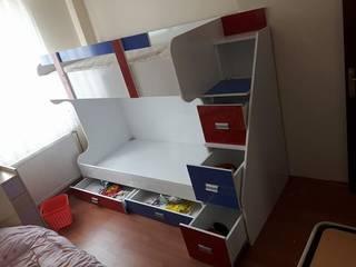 zen mutfak&banyo – iki katlı yatak: modern tarz , Modern