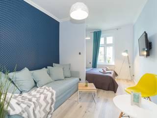 Lux Interiors - projektowanie i aranżacja wnętrz Gdańsk, Gdynia, Sopot ห้องนั่งเล่น