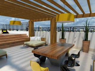 Cobertura: Terraços  por Mari Milani Arquitetura & Interiores,Moderno