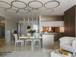 Modern dining room by (DZ)M Интеллектуальный Дизайн Modern