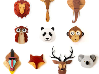 MW Kids - Animal Heads Collection por My Woodings - Woodworks