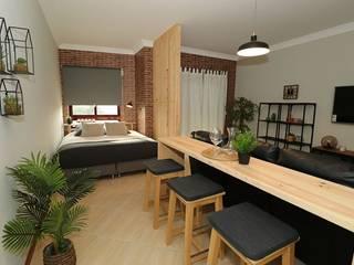 Consola e Biombo para remodelação de sala por My Woodings - Woodworks Moderno
