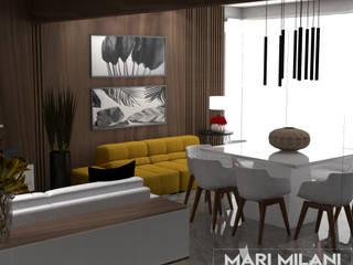 Apartamento Santana: Salas de jantar  por Mari Milani Arquitetura & Interiores,Moderno